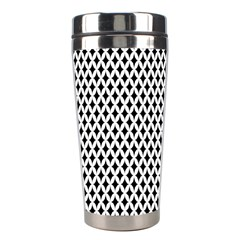 Diamond Black White Shape Abstract Stainless Steel Travel Tumblers