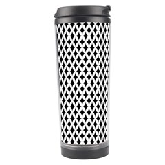 Diamond Black White Shape Abstract Travel Tumbler