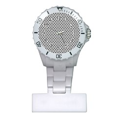 Diamond Black White Shape Abstract Plastic Nurses Watch