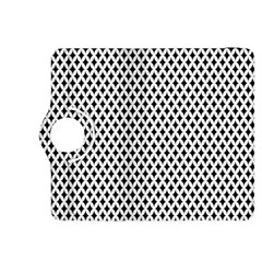 Diamond Black White Shape Abstract Kindle Fire Hdx 8 9  Flip 360 Case by Nexatart