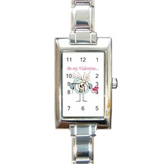 Valentine Day Poster Rectangle Italian Charm Watch by dflcprints