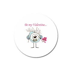 Valentine Day Poster Magnet 3  (round) by dflcprints