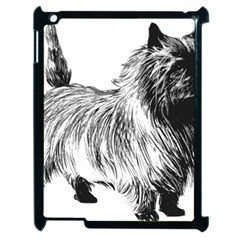 Cairn Terrier Greyscale Art Apple iPad 2 Case (Black) by TailWags