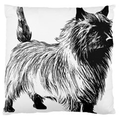 Cairn Terrier Greyscale Art Standard Flano Cushion Case (One Side) by TailWags
