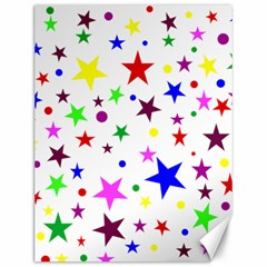 Stars Pattern Background Colorful Red Blue Pink Canvas 12  X 16