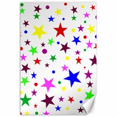 Stars Pattern Background Colorful Red Blue Pink Canvas 20  x 30