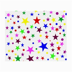 Stars Pattern Background Colorful Red Blue Pink Small Glasses Cloth (2 Side) by Nexatart