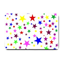 Stars Pattern Background Colorful Red Blue Pink Small Doormat