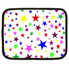 Stars Pattern Background Colorful Red Blue Pink Netbook Case (large) by Nexatart