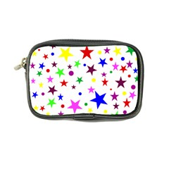 Stars Pattern Background Colorful Red Blue Pink Coin Purse
