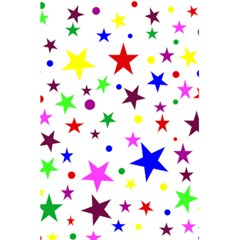 Stars Pattern Background Colorful Red Blue Pink 5 5  X 8 5  Notebooks by Nexatart