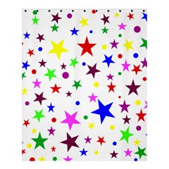 Stars Pattern Background Colorful Red Blue Pink Shower Curtain 60  X 72  (medium)  by Nexatart
