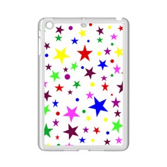 Stars Pattern Background Colorful Red Blue Pink Ipad Mini 2 Enamel Coated Cases by Nexatart