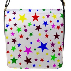 Stars Pattern Background Colorful Red Blue Pink Flap Messenger Bag (s)