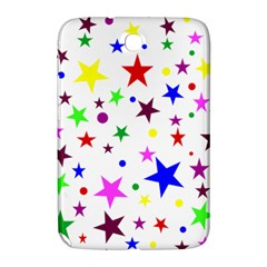 Stars Pattern Background Colorful Red Blue Pink Samsung Galaxy Note 8 0 N5100 Hardshell Case