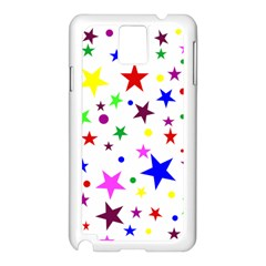 Stars Pattern Background Colorful Red Blue Pink Samsung Galaxy Note 3 N9005 Case (white)
