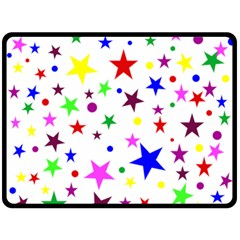 Stars Pattern Background Colorful Red Blue Pink Double Sided Fleece Blanket (large)