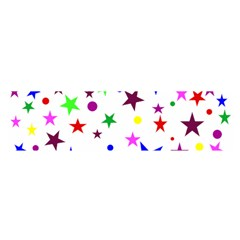 Stars Pattern Background Colorful Red Blue Pink Satin Scarf (oblong) by Nexatart