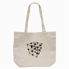 Grid Construction Structure Metal Tote Bag (cream)