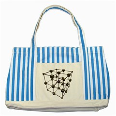 Grid Construction Structure Metal Striped Blue Tote Bag by Nexatart
