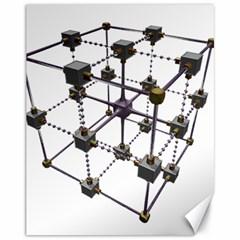 Grid Construction Structure Metal Canvas 11  X 14