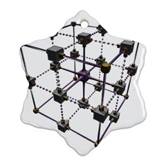 Grid Construction Structure Metal Ornament (snowflake)