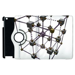 Grid Construction Structure Metal Apple Ipad 3/4 Flip 360 Case