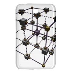 Grid Construction Structure Metal Samsung Galaxy Tab 3 (7 ) P3200 Hardshell Case  by Nexatart