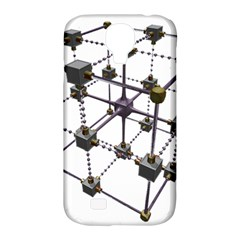 Grid Construction Structure Metal Samsung Galaxy S4 Classic Hardshell Case (pc+silicone) by Nexatart
