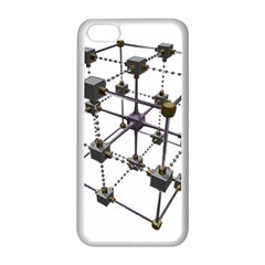 Grid Construction Structure Metal Apple Iphone 5c Seamless Case (white)
