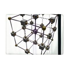 Grid Construction Structure Metal Ipad Mini 2 Flip Cases