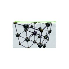 Grid Construction Structure Metal Cosmetic Bag (xs) by Nexatart