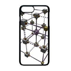 Grid Construction Structure Metal Apple Iphone 7 Plus Seamless Case (black) by Nexatart