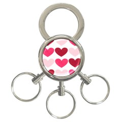 Valentine S Day Hearts 3 Ring Key Chains by Nexatart