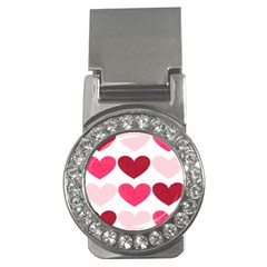 Valentine S Day Hearts Money Clips (cz)  by Nexatart