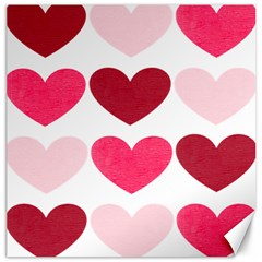 Valentine S Day Hearts Canvas 20  X 20   by Nexatart