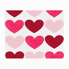 Valentine S Day Hearts Small Glasses Cloth (2 Side) by Nexatart