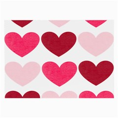 Valentine S Day Hearts Large Glasses Cloth by Nexatart