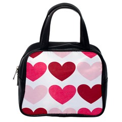 Valentine S Day Hearts Classic Handbags (one Side) by Nexatart