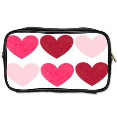 Valentine S Day Hearts Toiletries Bags 2 Side by Nexatart
