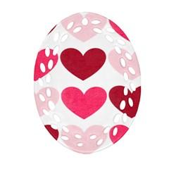 Valentine S Day Hearts Ornament (oval Filigree)