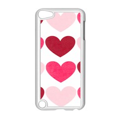 Valentine S Day Hearts Apple Ipod Touch 5 Case (white) by Nexatart