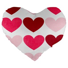 Valentine S Day Hearts Large 19  Premium Heart Shape Cushions by Nexatart