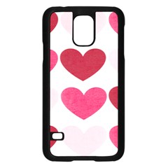 Valentine S Day Hearts Samsung Galaxy S5 Case (Black) by Nexatart