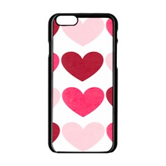 Valentine S Day Hearts Apple Iphone 6/6s Black Enamel Case by Nexatart