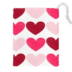 Valentine S Day Hearts Drawstring Pouches (xxl)