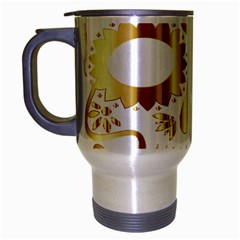 Sugar Skull Bones Calavera Ornate Travel Mug (silver Gray) by Nexatart