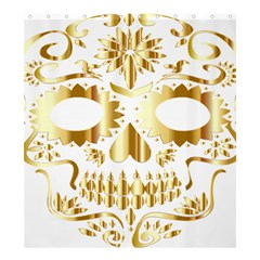 Sugar Skull Bones Calavera Ornate Shower Curtain 66  X 72  (large)