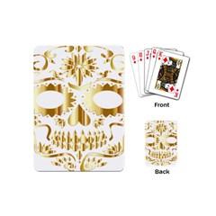 Sugar Skull Bones Calavera Ornate Playing Cards (mini)  by Nexatart