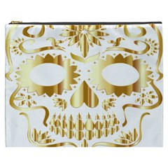 Sugar Skull Bones Calavera Ornate Cosmetic Bag (xxxl)